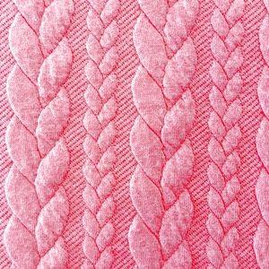 Zopfstrick rosa